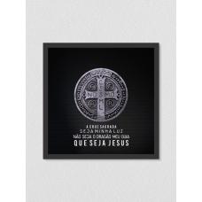 Quadro religioso 172 - Medalha São Bento