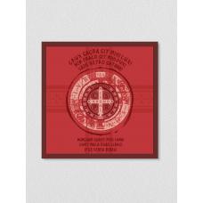 Quadro religioso 209 - Oração São Bento