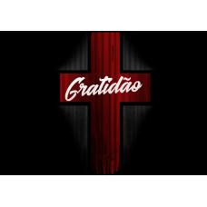 Mousepad Personalizado - Religioso - 39 - Gratidão Cruz