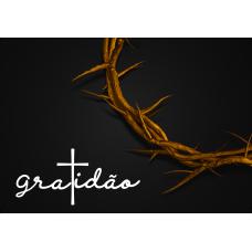 Mousepad Personalizado - Religioso - 41 - Gratidão Coroa