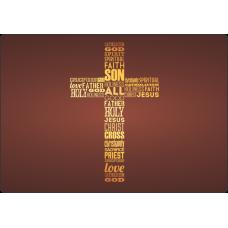 Mousepad Personalizado - Religioso - 47 - Cruz Inglês