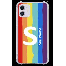 Capinha para celular - Personalizada com nome - Arco-íris 01
