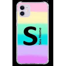 Capinha para celular - Personalizada com nome - Arco-íris 03