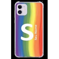 Capinha para celular - Personalizada com nome - Arco-íris 06