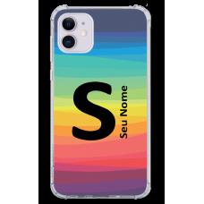 Capinha para celular - Personalizada com nome - Arco-íris 08