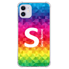 Capinha para celular - Personalizada com nome - Arco-íris 13