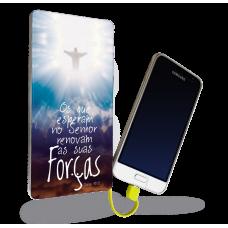 Carregador Portátil - Religião 12 -  Os que esperam no Senhor renovam sua Forças