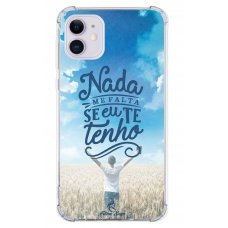 Capinha para celular - Fatima Souza 10 - Nada me falta se eu te tenho