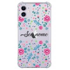 Capinha para celular - Personalizada com nome - Flores 01
