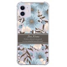 Capinha para celular - Personalizada com nome - Flores 17
