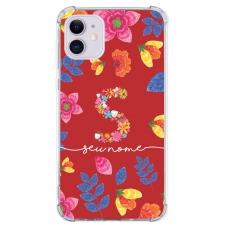 Capinha para celular - Personalizada com nome - Flores 22