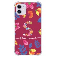 Capinha para celular - Personalizada com nome - Flores 23