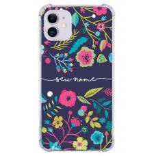 Capinha para celular - Personalizada com nome - Flores 26