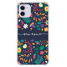 Capinha para celular - Personalizada com nome - Flores 27