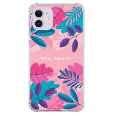 Capinha para celular - Personalizada com nome - Flores 28