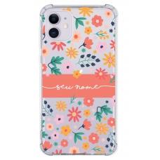 Capinha para celular - Personalizada com nome - Flores 31