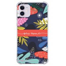 Capinha para celular - Personalizada com nome - Flores 36