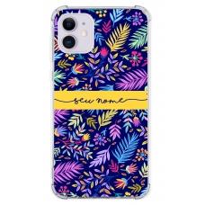 Capinha para celular - Personalizada com nome - Flores 33