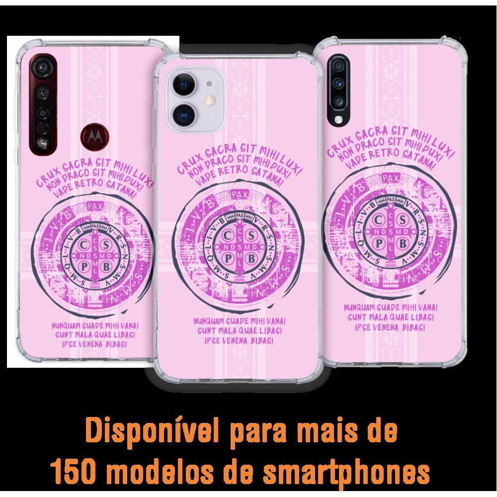 Capinha para celular - Religiosa 208 Latim - Medalha de São Bento