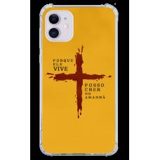 Capinha para celular - Religiosa 177 - Porque Ele vive posso crer