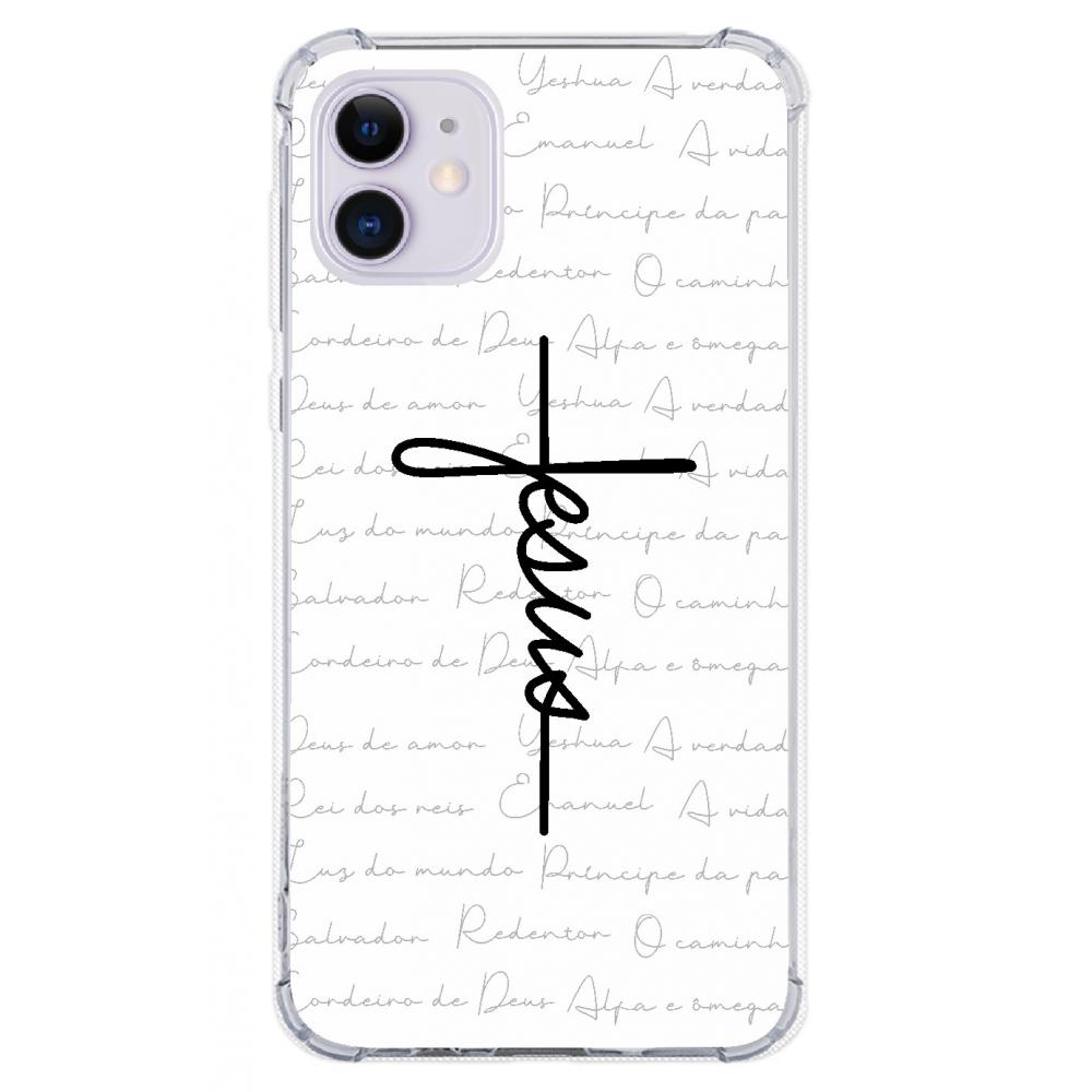 Capinha para celular - Religiosa 187 - Capinha Jesus estilo cruz