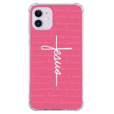 Capinha para celular - Religiosa 188 - Capinha Jesus estilo cruz