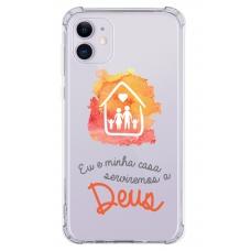 Capinha para celular - Religiosa 22 - Eu E Minha Casa Serviremos A Deus