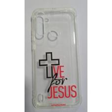 Capinha para celular - Motorola G8 Power Lite - Live for Jesus