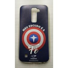 Capinha para celular - Lg K10 K430 - Meu Escudo É A Fé Cn