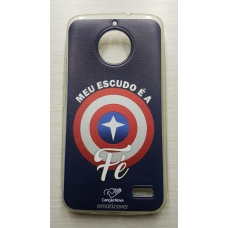 Capinha para celular - Motorola E4 - Meu Escudo É A Fé Cn