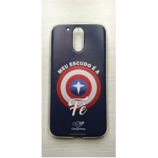 Capinha para celular - Motorola G4 / G4 Plus - Meu Escudo É A Fé Cn