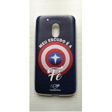 Capinha para celular - Motorola G4 Play - Meu Escudo É A Fé Cn
