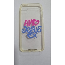 Capinha para celular - Iphone 5/5S/Se - Amo Jesus