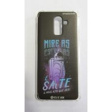 Capinha para celular - Samsung J8 / A6 Plus - Rosa de Saron 34