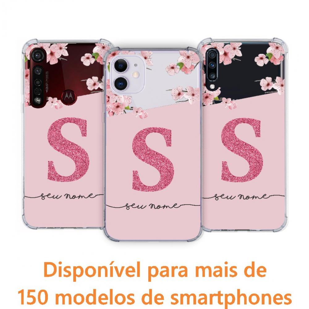 Capinha para celular - Personalizada com nome - Flores 14