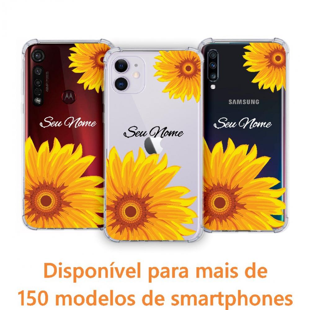 Capinha para celular - Personalizada com nome - Girassol 03