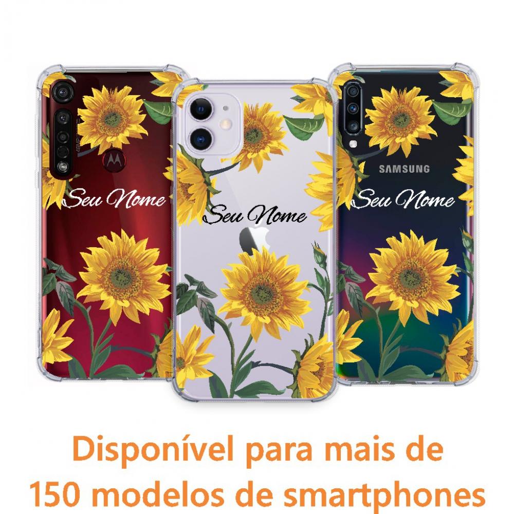 Capinha para celular - Personalizada com nome - Girassol 05