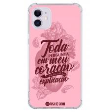 Capinha para celular - Rosa de Saron 29 - Toda pergunta em meu coração