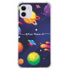 Capinha para celular - Personalizada com nome - Space 01