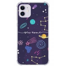 Capinha para celular - Personalizada com nome - Space 02