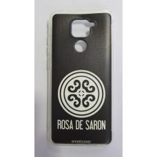 Capinha para celular - Xiaomi Redmi Note 9 - Rosa de Saron logo