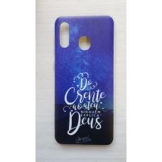 Capinha para celular - Samsung A20 / A30 - Do Crente ao Ateu (capa holográfica)