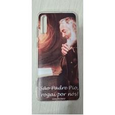 Capinha para celular - Samsung A70 - Religião 105 Padre Pio
