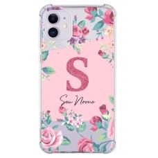 Capinha para celular - Personalizada com nome - Flores 10