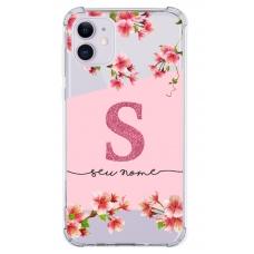 Capinha para celular - Personalizada com nome - Flores 12