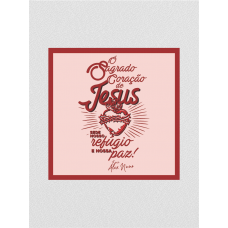 Quadro religioso - Frei Alex Nuno 04 - Sagrado Coração de Jesus