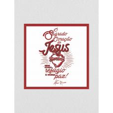 Quadro religioso - Frei Alex Nuno 03 - Sagrado Coração de Jesus
