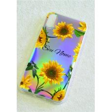 Capinha holográfica - Personalizada com seu nome - Sunflower (girassol) 05