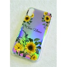 Capinha holográfica - Personalizada com seu nome - Sunflower (girassol) 07