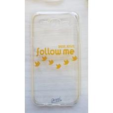 Capinha para celular - Samsung J5 J500 - Follow me (transparente)